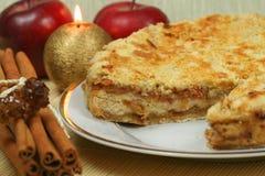 πίτα Χριστουγέννων μήλων Στοκ Φωτογραφία