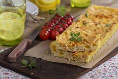 Πίτα Vegan με tofu στοκ εικόνα με δικαίωμα ελεύθερης χρήσης
