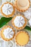 Πίτες λίγων λεμονιών μαρέγκας Στοκ Εικόνες