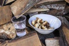 Πίτες και νερό Στοκ Φωτογραφία