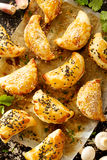 Πίτες μανιταριών με τη ζύμη ριπών Στοκ εικόνα με δικαίωμα ελεύθερης χρήσης