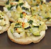 Πίτες με τα κολοκύθια και το τυρί στοκ εικόνες