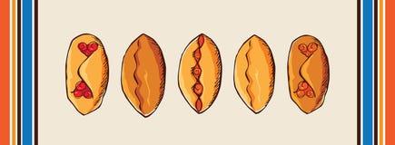 Πίτες με τα μούρα και τη μαρμελάδα Στοκ Φωτογραφία