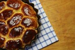Πίτες σε ένα φύλλο ψησίματος Στοκ Εικόνες