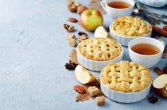 Πίτες της Apple με το διαφορετικό σχέδιο Στοκ φωτογραφία με δικαίωμα ελεύθερης χρήσης