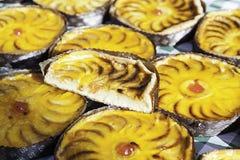 Πίτες της Apple σε μια αγορά Στοκ εικόνες με δικαίωμα ελεύθερης χρήσης