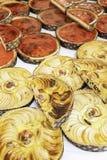 Πίτες της Apple σε μια αγορά Στοκ Εικόνες