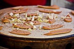 Πίτσα βαφλών λουκάνικων Στοκ φωτογραφία με δικαίωμα ελεύθερης χρήσης