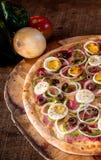 Πίτσα για το μεσημεριανό γεύμα στοκ φωτογραφίες με δικαίωμα ελεύθερης χρήσης