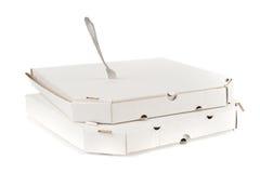 πίτσα δικράνων κιβωτίων Στοκ εικόνες με δικαίωμα ελεύθερης χρήσης