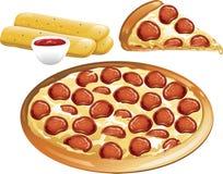 πίτσα εικονιδίων Στοκ Φωτογραφίες
