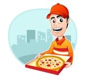 πίτσα επαγγέλματος παράδοσης Στοκ Εικόνες