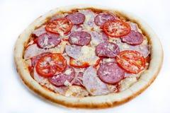 Πίτσα, διαφορετικά είδη πιτσών στις επιλογές του εστιατορίου και του pizzeria Στοκ Εικόνες