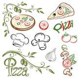 Πίτσα, ιταλικά τρόφιμα Στοκ εικόνες με δικαίωμα ελεύθερης χρήσης