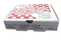 πίτσα κιβωτίων Στοκ φωτογραφία με δικαίωμα ελεύθερης χρήσης
