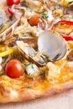 πίτσα κρουστών λεπτή Στοκ εικόνες με δικαίωμα ελεύθερης χρήσης