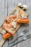 Πίτσα μανιταριών Στοκ Φωτογραφία