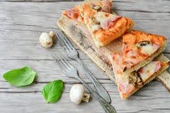 Πίτσα μανιταριών Στοκ εικόνα με δικαίωμα ελεύθερης χρήσης