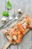 Πίτσα μανιταριών Στοκ Εικόνες