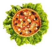 πίτσα μαρουλιού φύλλων Στοκ Εικόνες