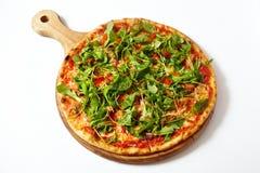 Πίτσα με τα θαλασσινά και το arugula Στοκ φωτογραφίες με δικαίωμα ελεύθερης χρήσης