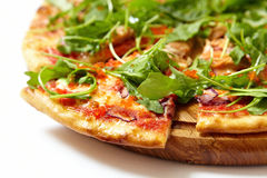 Πίτσα με τα θαλασσινά και το arugula Στοκ φωτογραφία με δικαίωμα ελεύθερης χρήσης