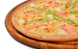 Πίτσα με τα θαλασσινά Στοκ Εικόνα