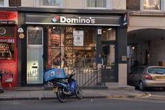 Πίτσα ντόμινο Στοκ φωτογραφία με δικαίωμα ελεύθερης χρήσης
