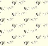 πίτσα προτύπων άνευ ραφής Στοκ φωτογραφία με δικαίωμα ελεύθερης χρήσης