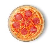 Πίτσα σαλαμιού πιτσών salame Στοκ Φωτογραφία