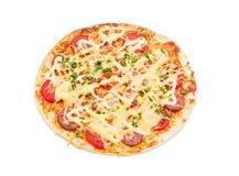Πίτσα σε ένα ελαφρύ υπόβαθρο Στοκ φωτογραφία με δικαίωμα ελεύθερης χρήσης