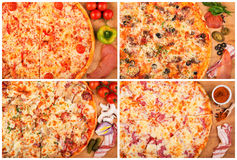 Πίτσα στον πίνακα στοκ εικόνες