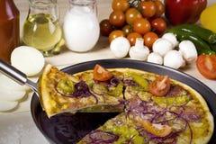 πίτσα συστατικής ειρήνης στοκ φωτογραφίες