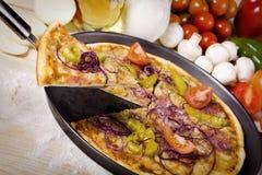 πίτσα συστατικής ειρήνης στοκ φωτογραφία