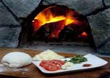 πίτσα συστατικών Στοκ Εικόνες