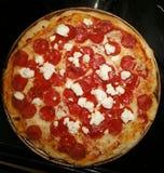 Πίτσα τυριών αιγών Στοκ Εικόνα