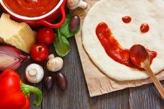 Πίτσα. Στοκ φωτογραφία με δικαίωμα ελεύθερης χρήσης