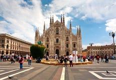 Πίτσα Duomo Ιταλία του Μιλάνου Στοκ Εικόνες