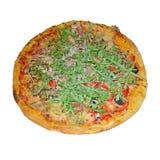 Πίτσα Four Seasons που απομονώνεται στο λευκό Στοκ εικόνες με δικαίωμα ελεύθερης χρήσης