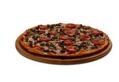 Πίτσα Imporator Στο λευκό Στοκ Εικόνες