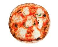 Πίτσα Margherita με τις φέτες της μοτσαρέλας Στοκ Εικόνες