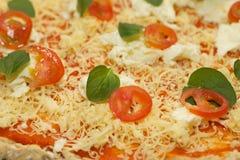 Πίτσα Selfmade Στοκ φωτογραφίες με δικαίωμα ελεύθερης χρήσης