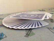 Παίζοντας αέρισμα καρτών Στοκ εικόνα με δικαίωμα ελεύθερης χρήσης