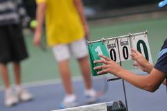 Παίζοντας αθλητικοί αριθμοί ένα και μηδέν αποτελέσματος στοκ φωτογραφίες