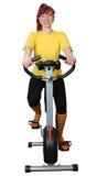 παίζοντας αθλητικό velosimulator Στοκ Εικόνες
