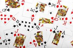 Παίζοντας ανασκόπηση καρτών Στοκ εικόνες με δικαίωμα ελεύθερης χρήσης