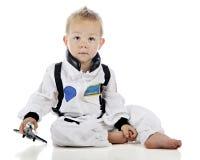 Παίζοντας αστροναύτης μωρών Στοκ εικόνα με δικαίωμα ελεύθερης χρήσης