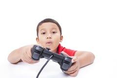 παίζοντας βίντεο παιχνιδ&iot Στοκ Εικόνες