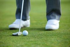 Παίζοντας γκολφ προσώπων, χαμηλό τμήμα Στοκ Εικόνα