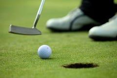 Παίζοντας γκολφ προσώπων, χαμηλό τμήμα Στοκ εικόνα με δικαίωμα ελεύθερης χρήσης
